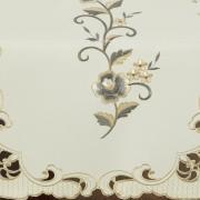 Trilho de Mesa com Bordado Richelieu 45x170cm Avulso - Elenice Bege - Dui Design