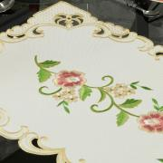 Trilho de Mesa com Bordado Richelieu 40x85cm Avulso - Elenice Rosa - Dui Design