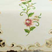 Trilho de Mesa com Bordado Richelieu 45x170cm Avulso - Elenice Rosa - Dui Design