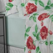 Jogo de Cama Queen Percal 180 fios - Eliane Rosa - Dui Design