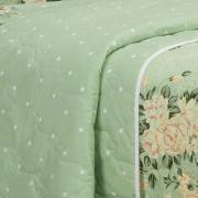 Kit: 1 Cobre-leito Queen + 2 Portas-travesseiro 150 fios - Elisa Verde - Teka