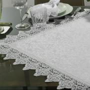 Centro de Mesa com Bordado Guipir Fácil de Limpar 85x85cm Avulso - Elizabeth Branco - Dui Design