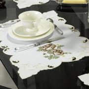 Jogo Americano 4 Lugares (4 peças) com Bordado Richelieu 35x50cm - Eloisa Rosas - Dui Design