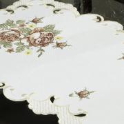 Trilho de Mesa com Bordado Richelieu 40x85cm Avulso - Eloisa Rosas- Dui Design