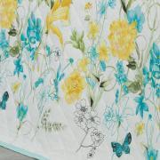 Enxoval Casal com Cobre-leito 7 peças Percal 180 fios - Emilia Azul - Dui Design