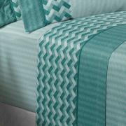 Jogo de Cama Queen Cetim 300 fios - Empire Azul Porto - Dui Design