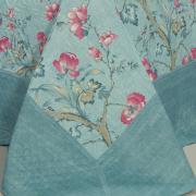 Kit: 1 Cobre-leito Casal Bouti de Microfibra Ultrasonic Estampada + 2 Porta-travesseiros - Emyko Azul - Dui Design