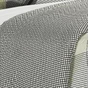 Kit: 1 Cobre-leito Casal Bouti de Microfibra Ultrasonic Estampada + 2 Porta-travesseiros - Enzo Grafite - Dui Design