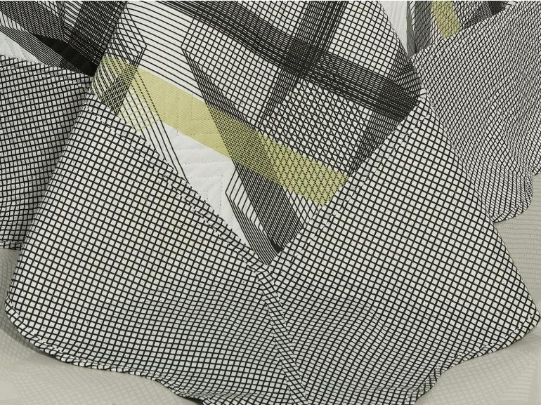 Kit: 1 Cobre-leito King Bouti de Microfibra Ultrasonic Estampada + 2 Porta-travesseiros - Enzo Grafite - Dui Design
