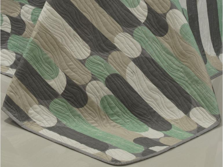 Kit: 1 Cobre-leito Casal Bouti de Microfibra Ultrasonic Estampada + 2 Porta-travesseiros - Epoque Cinza - Dui Design