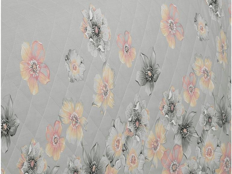 Enxoval Solteiro com Cobre-leito 5 peças 150 fios - Erica Cinza - Dui Design