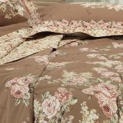 Kit: 1 Cobre-leito Solteiro + 1 Porta-travesseiro Percal 180 fios 100% Algodão - Estela Nude - Dui Design