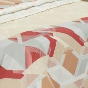 Kit: 1 Cobre-leito Solteiro + 1 Porta-travesseiro 150 fios - Ethos Bege - Dui Design