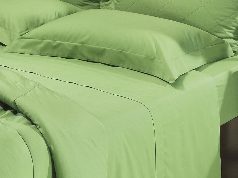 Jogo de Cama Solteiro Percal 200 fios 100% Algodão - Everyday Verde Mineral - Dui Design