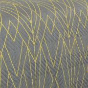 Kit: 1 Cobre-leito Queen Bouti de Microfibra Ultrasonic Estampada + 2 Porta-travesseiros - Fabrizio Grafite - Dui Design