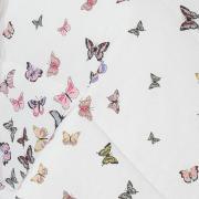 Jogo de Cama Queen 150 fios - Farfalla Rosa - Dui Design