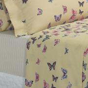 Jogo de Cama Casal 150 fios - Farfalla Marfim - Dui Design