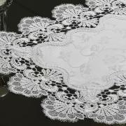 Jogo Americano 4 Lugares (4 peças) com Bordado Guipir Fácil de Limpar 35x50cm - Felicity Branco - Dui Design