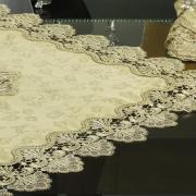 Centro de Mesa com Bordado Guipir Fácil de Limpar 85x85cm Avulso - Felicity Caqui - Dui Design