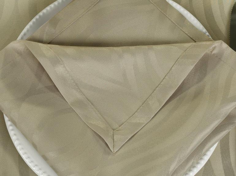 Kit: 4 Guardanapos 50x50cm - Fenix Bege - Dui Design
