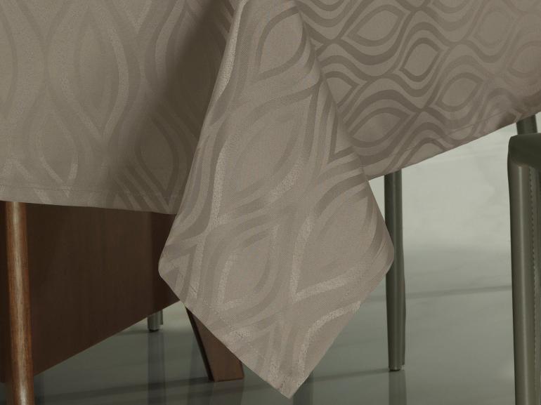 Toalha de Mesa Fácil de Limpar Quadrada 8 Lugares 220x220cm - Fenix Noz Moscada - Dui Design