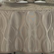 Toalha de Mesa Fácil de Limpar Redonda 220cm - Fenix Noz Moscada - Dui Design