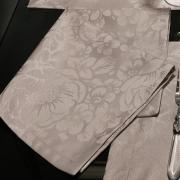 Kit: 4 Guardanapos 50x50cm - Fiore Noz Moscada - Dui Design