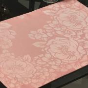 Jogo Americano 4 Lugares (4 peças) Fácil de Limpar 35x50cm - Fiore Rosa Velho - Dui Design