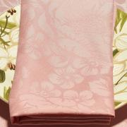 Kit: 4 Guardanapos 50x50cm - Fiore Rosa Velho - Dui Design