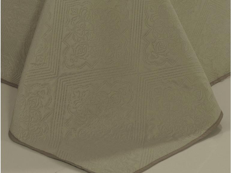 Kit: 1 Cobre-leito Queen Bouti de Microfibra Ultrasonic + 2 Porta-travesseiros - Firenze Bege - Dui Design