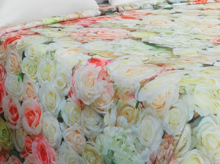 Cobertor Avulso King Flanelado com Estampa Digital - Flora - Dui Design