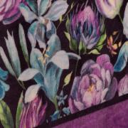 Cobertor Avulso Solteiro Flanelado com Estampa Digital 280 gramas/m² - Floral Art - Dui Design