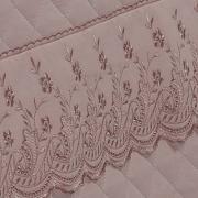 Jogo de Cama Queen Percal 200 fios com Bordado Inglês - Florata Rosa Velho - Dui Design