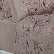 Jogo de Cama Queen Percal 180 fios - Foliage Noz Moscada - Dui Design