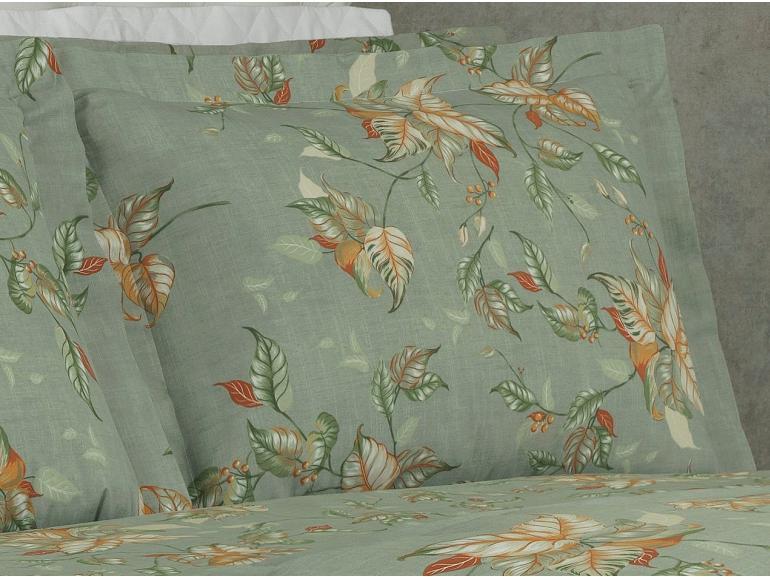 Jogo de Cama Queen Percal 180 fios - Foliage Verde - Dui Design