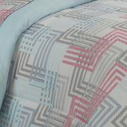 Jogo de Cama Casal Percal 180 fios - Franco Azul - Dui Design