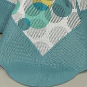 Kit: 1 Cobre-leito Queen Bouti de Microfibra Ultrasonic Estampada + 2 Porta-travesseiros - Fusion Indigo - Dui Design