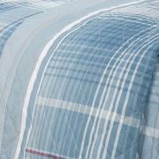 Enxoval Casal com Cobre-leito 7 peças 150 fios - Gales Azul - Dui Design