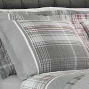 Jogo de Cama Queen Percal 180 fios - Gales Cinza - Dui Design