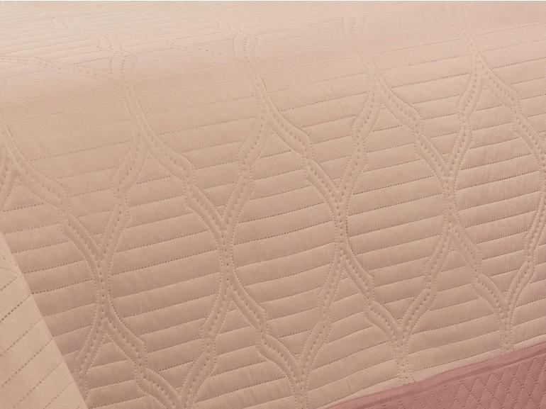 Kit: 1 Cobre-leito Casal Bouti de Microfibra Ultrasonic + 2 Porta-travesseiros - Gallery Nude - Dui Design