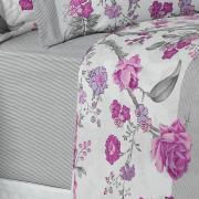 Jogo de Cama Queen Percal 180 fios - Garden Uva - Dui Design