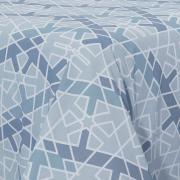 Jogo de Cama Queen 150 fios - Geometrico Azul - Kacyumara