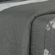 Kit: 1 Cobre-leito Queen Bouti de Microfibra Ultrasonic Estampada + 2 Porta-travesseiros - Giovana Preto e Branco - Dui Design