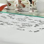Toalha de Mesa com Bordado Richelieu Quadrada 4 Lugares 160x160cm - Godiva Branco - Dui Design