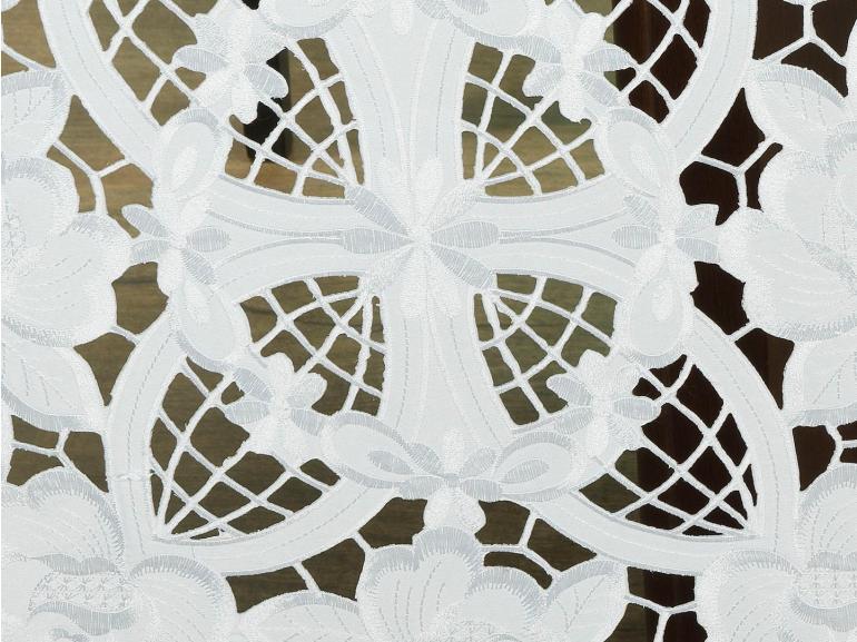Trilho de Mesa com Bordado Richelieu 45x170cm Avulso - Godiva Branco - Dui Design