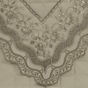 Kit: 1 Cobre-leito Casal + 2 porta-travesseiros Percal 200 fios com Bordado Inglês - Grace Castanho - Dui Design