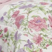 Jogo de Cama Queen Percal 200 fios - Graciance Rosa Velho - Dui Design