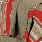 Jogo de Cama Solteiro Percal 200 fios 100% Algodão - Granada Vermelho - Dui Design