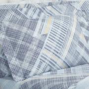 Jogo de Cama Casal 150 fios - Gregory Azul - Dui Design