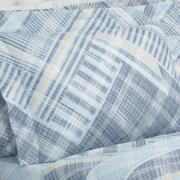 Enxoval King com Cobre-leito 7 peças 150 fios - Gregory Azul - Dui Design
